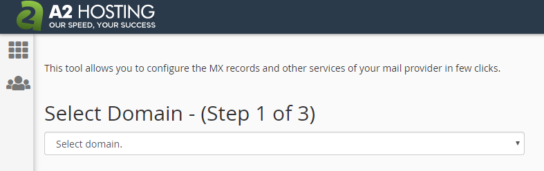 cPanel - Mail features - Remote MX Wizard - Step 1